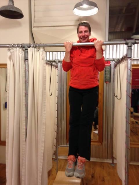 SANCA Coach Terri Sullivan - keeping in shape at Title Nine!