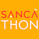 sancathon logo red trans gold square